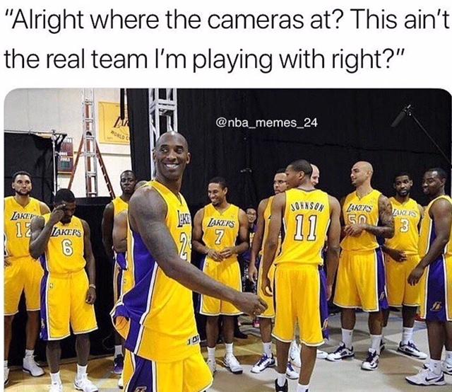 Kobe broke team