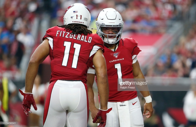 Larry FItzgerald Kyler Murray Getty Images